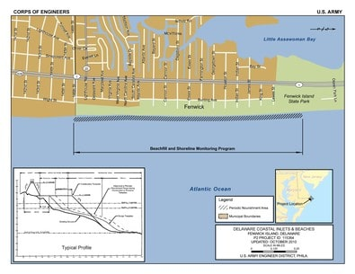 Fenwick Island Storm Risk Management Program map