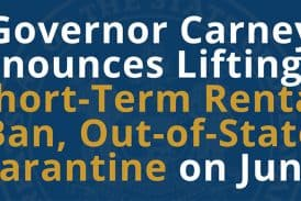 Governor Carney lifts short-term rental ban